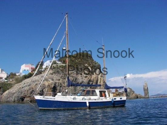 Francesca Anchored Ventotene Aeolian Islands